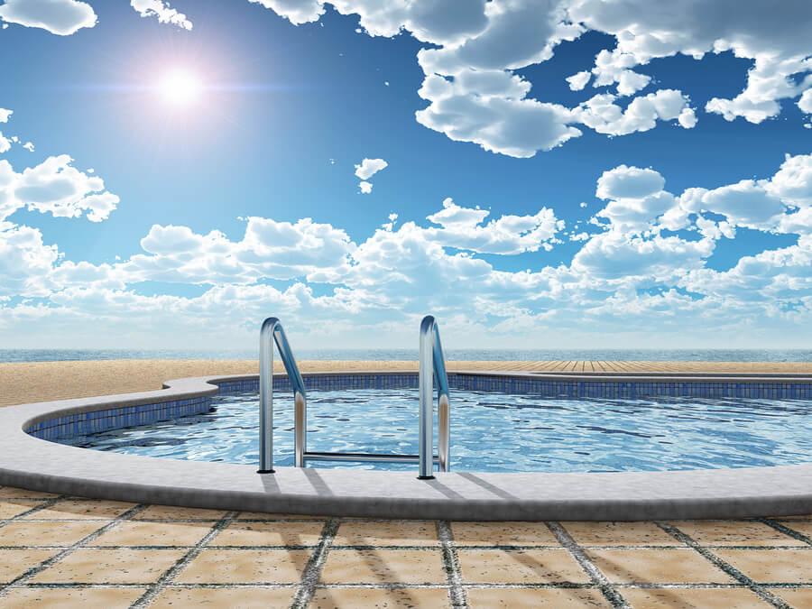 Pool Handrail Installation | Glendale, Phoenix AZ | Pink Dolphin Pool Care