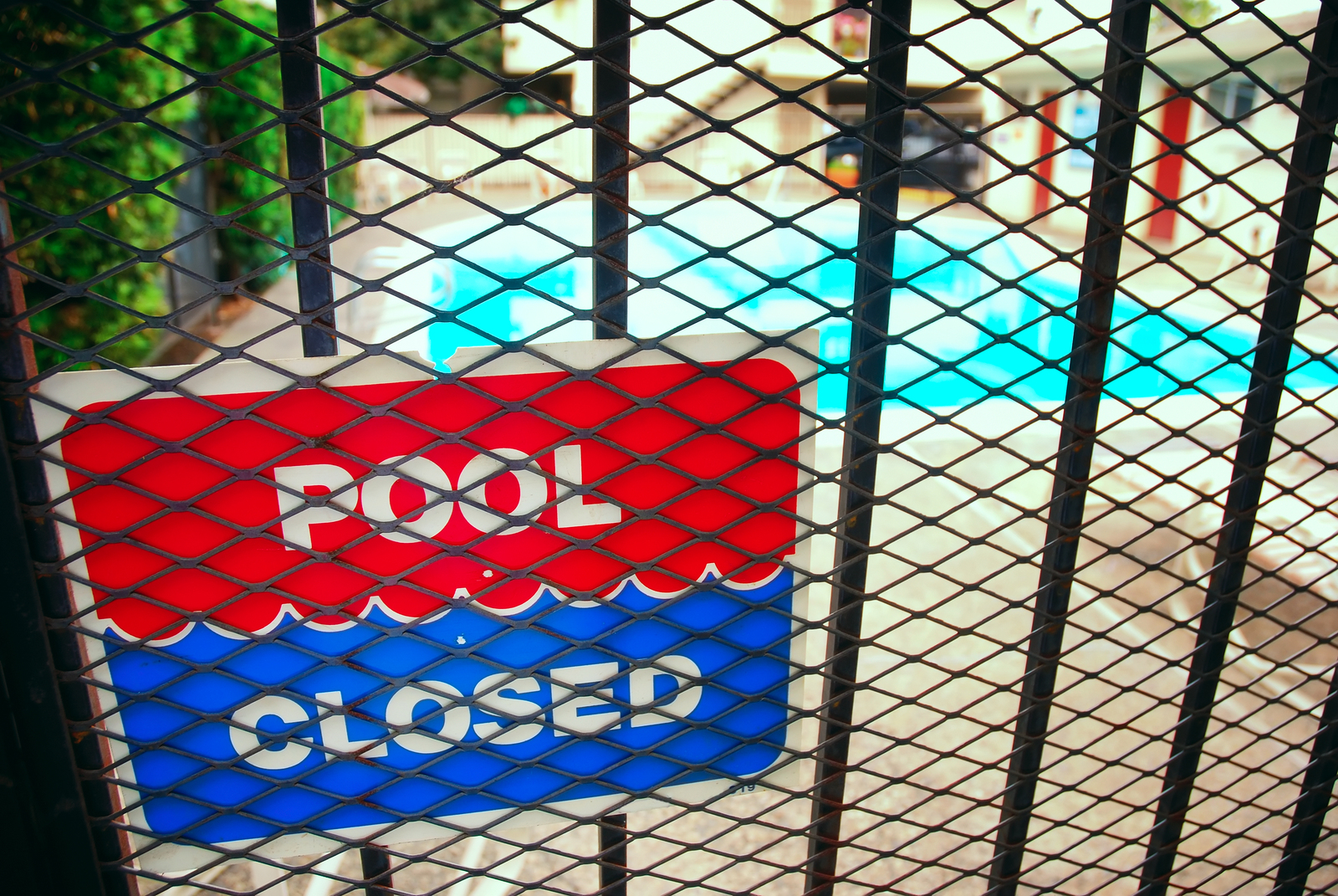 What happens during a professional pool closure?