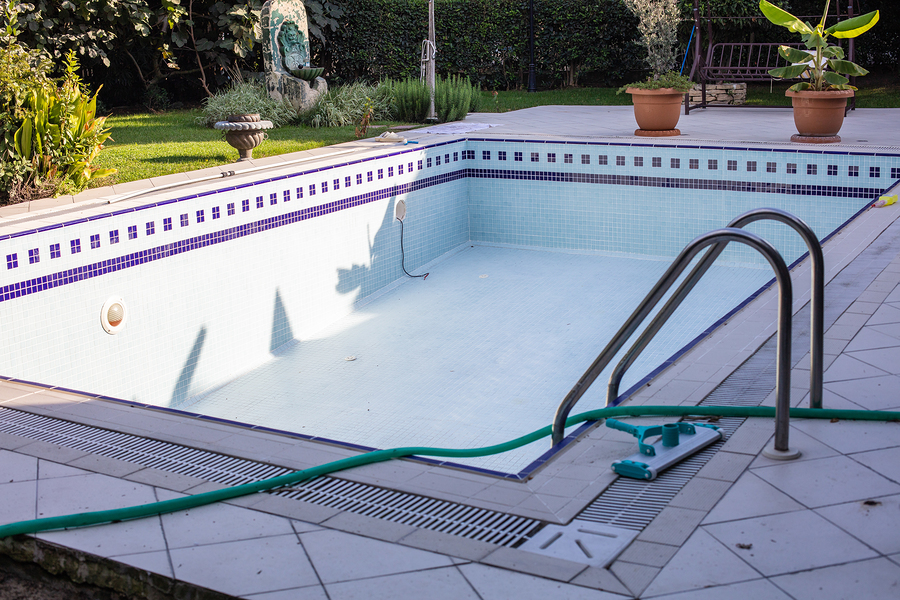 Pre-season pool maintenance and repairs.